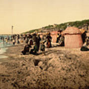 Trouville France Beach - The Good Old Days Art Print