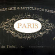 Paris Black And White Gold Typography Home Decor - French Script Paris Wall Art Home Decor Art Print