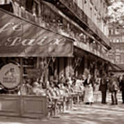 Paris Cafe 1935 Sepia Art Print
