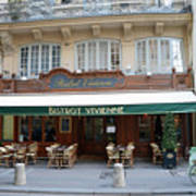 Paris Cafe Bistro Vivienne - Paris Cafes Bistro Restaurant-paris Cafe Galerie Vivienne Art Print