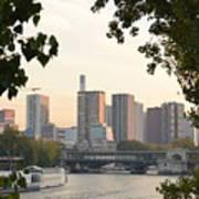 Paris Cityscape Across The Water Art Print