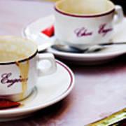 Paris Coffee Cups Art Print