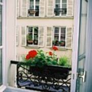 Paris Day Windowbox Art Print