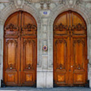 Paris Doors Art Print