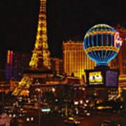 Paris In Las Vegas-nevada Art Print