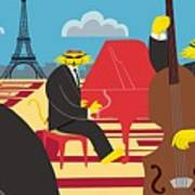 Paris Kats - The Coolkats Art Print by Darryl Glenn Daniels