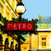 Paris Metro Stop Art Print