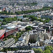 Paris Panorama From The Eiffel Tower Art Print