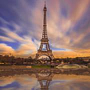 Paris Reflections Art Print