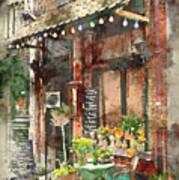 Paris Restaurant 5 - By Diana Van Art Print