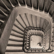 Paris Staircase - Sepia Art Print
