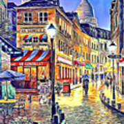 Paris Street Abstract 2 Art Print