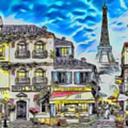 Paris Street Abstract 3 Art Print