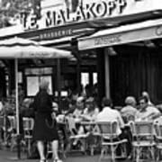 Paris Street Cafe - Le Malakoff Art Print