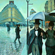 Paris Street Rainy Day Art Print by Jose Roldan Rendon