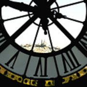 Paris Through The Clock Art Print