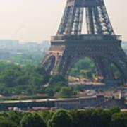 Paris Tour Eiffel 301 Pollution, Pollution Art Print