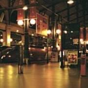 Paris Train Station At Night Art Print
