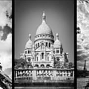 Paris Triptych Art Print