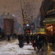 Paris Winter Scene Art Print