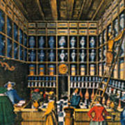 Parisian Pharmacy, 1624 Art Print