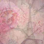 Parisian Romantic Collage Art Print