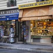 Parisian Shops Art Print