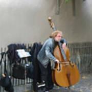 Parisian Street Musician Art Print