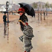 Parisienne On A Rainy Day Art Print