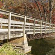 Park Bridge Autumn 3 Art Print