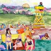 Park Side Beaches Art Print