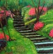 Park Steps Art Print