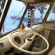 Parked Above The Pier Art Print by Ron Regalado