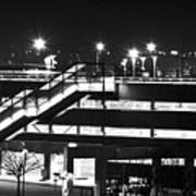 Parking Garage At Night Art Print