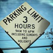 Parking Limits Art Print