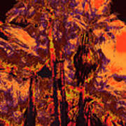 Parking Lot Palms 1 11 Art Print