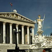 Parliament In Vienna Austria Art Print