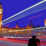 Parliament Square With Silhouette Art Print by Chris Smith