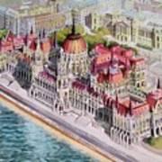Parliment Of Hungary Art Print by Charles Hetenyi