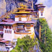 Paro Taktsang Monastery Bhutan Art Print