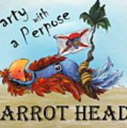 Parrot Heads Art Print