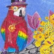 Parrot In Gear Tree Art Print