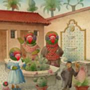 Parrots 08 Art Print