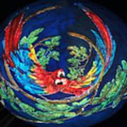 Parrots Go Round Art Print