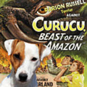 Parson Russell Terrier Art Canvas Print - Curucu  Movie Poster Art Print