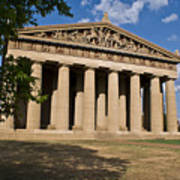 Parthenon Nashville Tennessee From The Shade Art Print