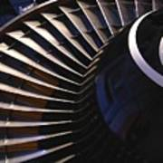 Partial View Of Jet Engine Art Print