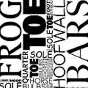Parts Of Hoof And Foot Art Print