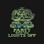 Party With The Lights Off Art Print