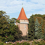 Pasamonikow Tower And Planty Park In Krakow Art Print